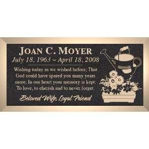 Gardening Watering Can Windowbox   Cast Bronze Memorial