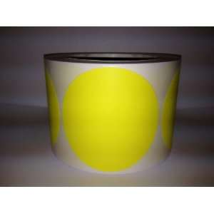 Yellow Round color coded inventory dots stickers Labe: Office Products