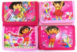 New Pink Dora The Explorer Tri fold Wallet Perfect as Party Favors LOW