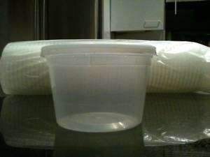 50 Plastic Food Containers with 50 Lids (16oz)