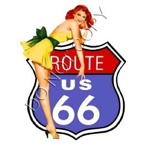 Sexy Route 66 Pinup Girl Decals s72 Musical Instruments