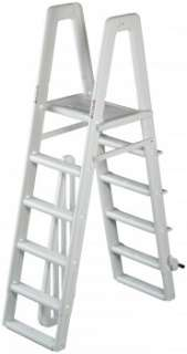 Ladder with Slide Lock System for Aboveground Swimming Pools