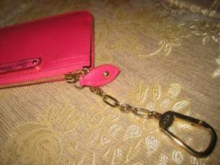 LOUIS VUITTON VERNIS FUCHSIA KEY HOLDER COIN CREDIT CARD WALLET LV HOT