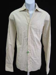 COAST Mens Yellow Green Print Button Down Shirt Sz L