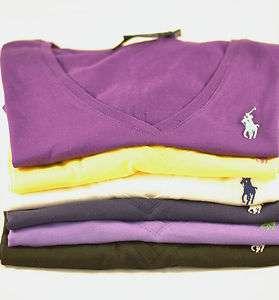 POLO Ralph Lauren Womens V Neck S/S T shirt