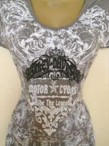 HARLEY DAVIDSON Ride the Legend Tissue Tee Shirt Top M