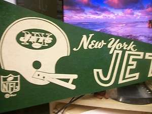 1967 VINTAGE NEW YORK JETS PENNANT NFL DATED