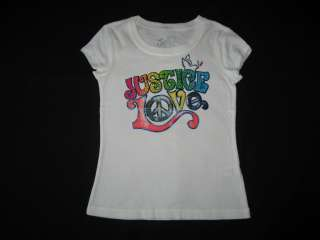 NEW JUSTICE Love Dove Shirt Girls Summer Cloes 6 |