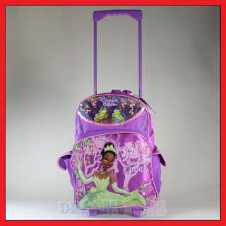 16 Disney Tiana Princess Rolling Backpack Roller/Bag