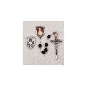 Pewter Black Pope John Paul Rosary in Gift Box Everything