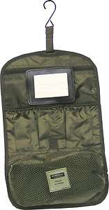 Army Combat Zip Compact Hanging DPM Travel Wash Kit Roll Bag New Shave