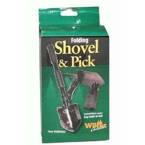 Campers Compact Shovel & Pick 2 in 1 (Folded 7 inch)(Belt