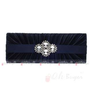 women Wedding Evening Purse bridal Clutch bag with silver and PU chain