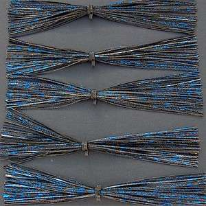 Standard Spinnerbait/Jig Skirts ~ Black Blue Flash