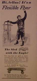 TOY 1949 Flexible Flyer Sled Flexy Racer Eagle Promo Print AD