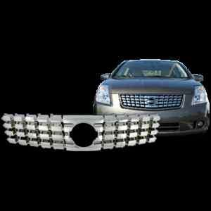 2007 2009 Nissan Sentra Chrome Grille Grill Overlay