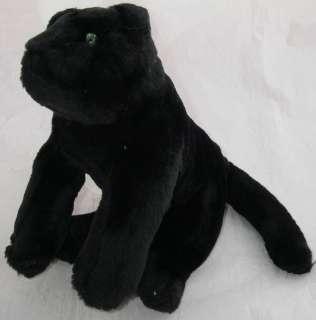 Rainforest Cafe Plush Black Panther Cat Green Eyes 10