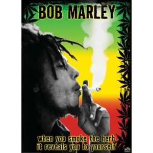 Bob Marley (Smoke Herb Quote) Music Poster Print   40 X