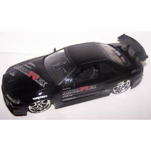 Scale Diecast Dub City Nissan Skyline Gt r R34 in Color Black: Toys