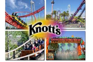 KNOTTS BERRY FARM GENERAL ADMISSION TICKETS COUPON DISCOUNT