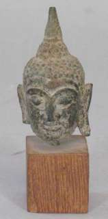 16th C. Thai Tibet Cast Bronze Buddha Head Sculpture