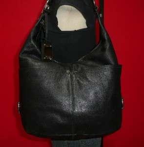 Vintage TIGNANELLO Black Leather Large Hobo Shoulder Tote Bag Purse