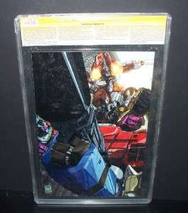 TRANSFORMERS ARMADA #1 CGC 9.6 COMIC SIGNED PAT LEE