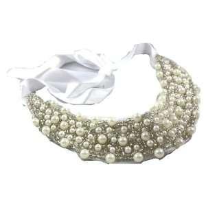 Designer Alex Carol Beautiful Large Faux Pearl, Seed Beads