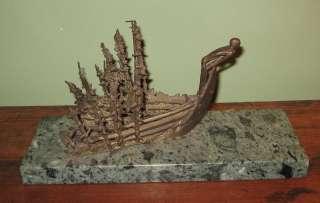 Price Canadian Artist Abstract Ship Bronze Sculpture