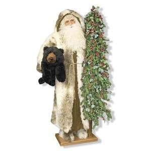 57 Ditz Father Christmas Santa w/ Bear Woodsmen