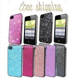 20x Bling Glitter Hard cell phone Case Cover For iPhone 4 4G 4S OS