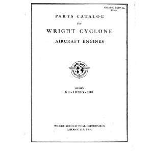 Cyclone Aircraft Engine Parts Manual Wright R 1820 Cyclone 9 Books