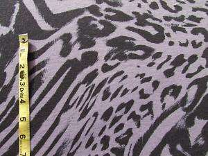 Gray Stretch Knit Fabric w/Black LEOPARD Print PuNk