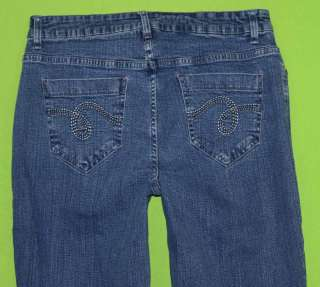 Smiths sz 6 x 32 Stretch Womens Blue Jeans Denim Pants Dungarees FN9