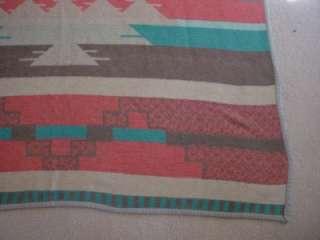 Vintage Old Indian Design Style Camp Blanket Rug 100% Cotton 78x55