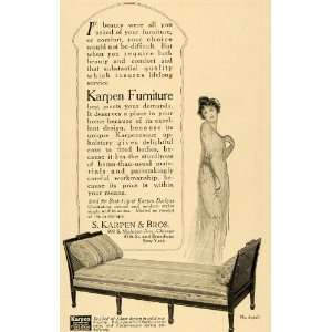 1917 Ad Karpen Furniture Day Bed Fashion Beauty Couch   Original Print