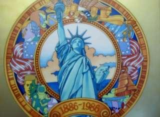 Heinrich Villeroy & Boch Statue Liberty Plaque Faure LE