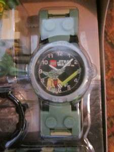 NEW LEGO STAR WARS YODA WRISTWATCH WATCH lucas clock + Minifig
