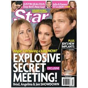 Star Magazine Angelina Jolie, Brad Pitt, Jennifer Aniston