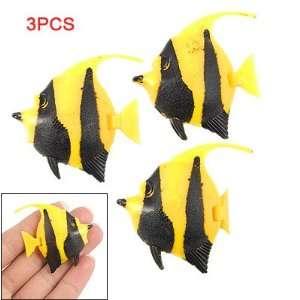 Pcs Yellow Black Plastic Floating Fish Aquarium Decor Pet Supplies
