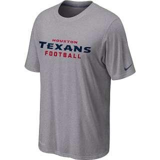Nike Houston Texans Sideline Legend Authentic Font Dri FIT T Shirt
