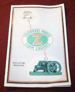 Fairbanks Morse Z Gas Engine Manual Book Hit Miss |