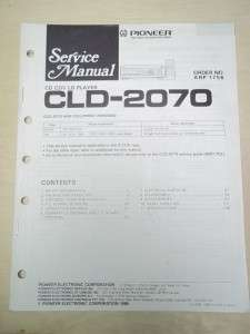 Pioneer Service Manual~CLD 2070 CD/CDV/LD Player~Original~Repair