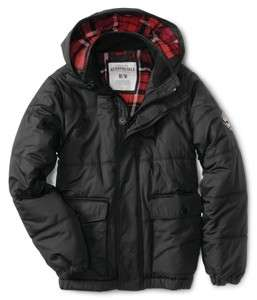 NEW AEROPOSTALE AERO MENS PUFFER WINTER JACKET COAT BLACK 3XL,2XL,XL