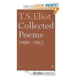 Collected Poems 1909 1962 T.S. Eliot  Kindle Store