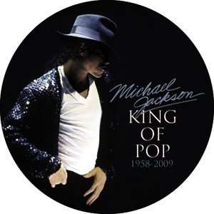 MICHAEL JACKSON KING OF POP BUTTON