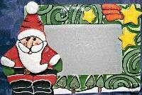 SANTA 4 x 6 CHRISTMAS HOLIDAY CERAMIC PHOTO FRAME NEW