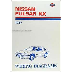 1987 Nissan Pulsar NX Wiring Diagram Manual Original