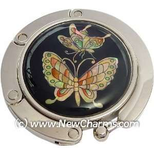 Colorful Butterflies Foldable Purse Hanger Handbag Table Hook Jewelry