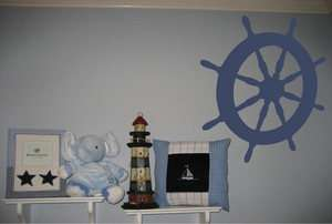 Nautical Ship Wheel Nursery Kids Wall Decor Decal